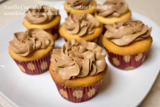 Yummy Experiment #8: Vanilla Cupcakes with Milk Chocolate Frosting