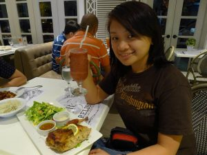 Eating at Relish (Quezon City, Philippines)