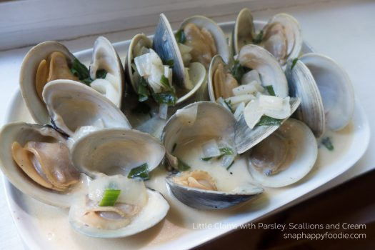 Yummy Experiment #32: Little Clams with Parsley, Scallions and Cream