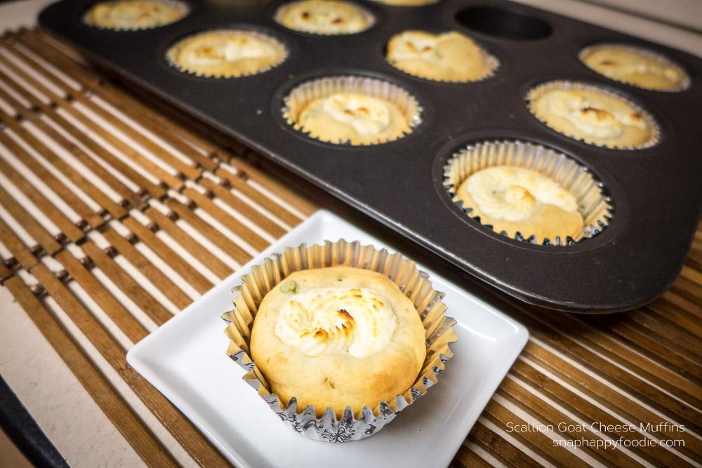 Scallion Goat Cheese Muffins