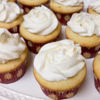 Yummy Experiment #5: Vanilla Cupcakes with Vanilla Buttercream Frosting