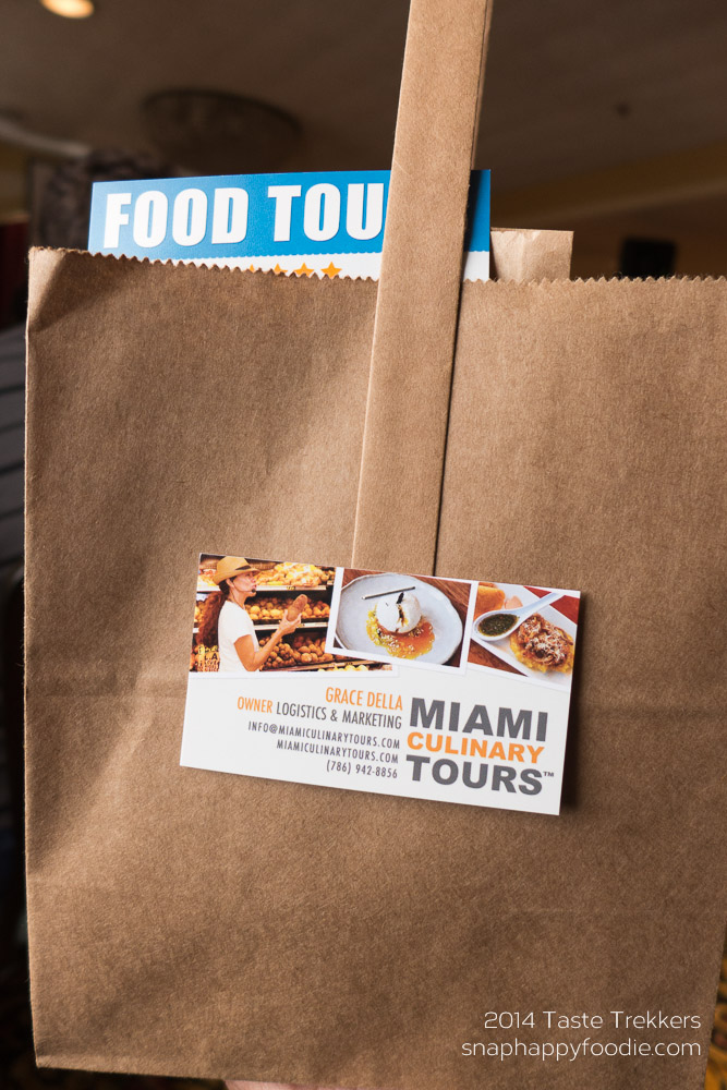 Goodie bag from Miami Culinary Tours