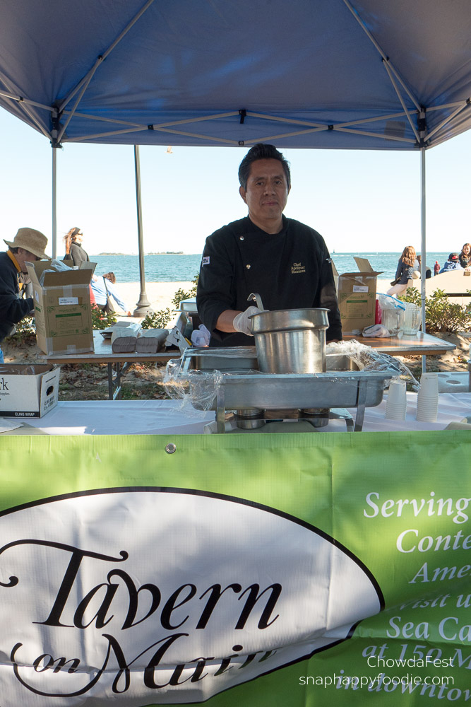 Chowdafest #29. Tavern on Main served New England Clam Chowder.