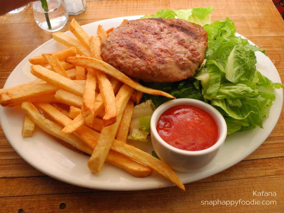 Pljeskavica - traditional Serbian burger (very juicy!)