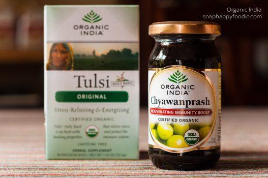 Organic India's Chyawanprash & Tulsi Tea