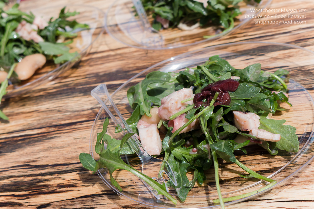 L'Inizio's arugula salad with charred octopus