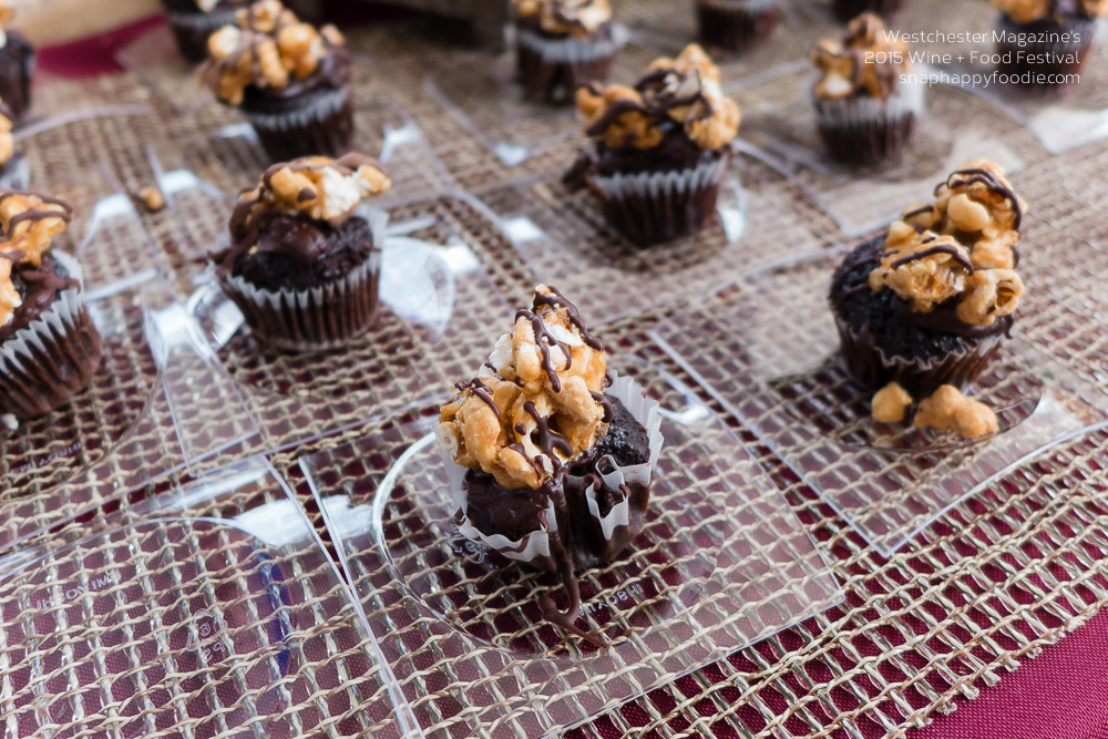 Dan Rooney's chocolate cupcake topped with toffee popcorn