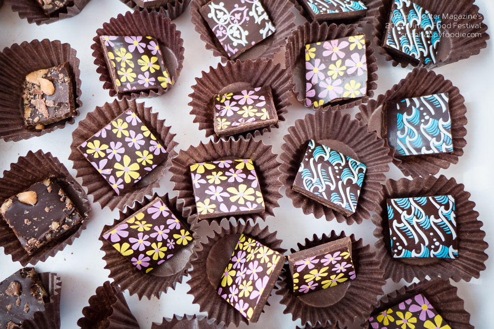Such pretty chocolates from Blue Tulip Chocolates!