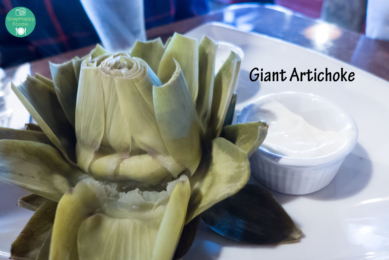 Freshly Steamed Artichoke with ranch and mayo dressing