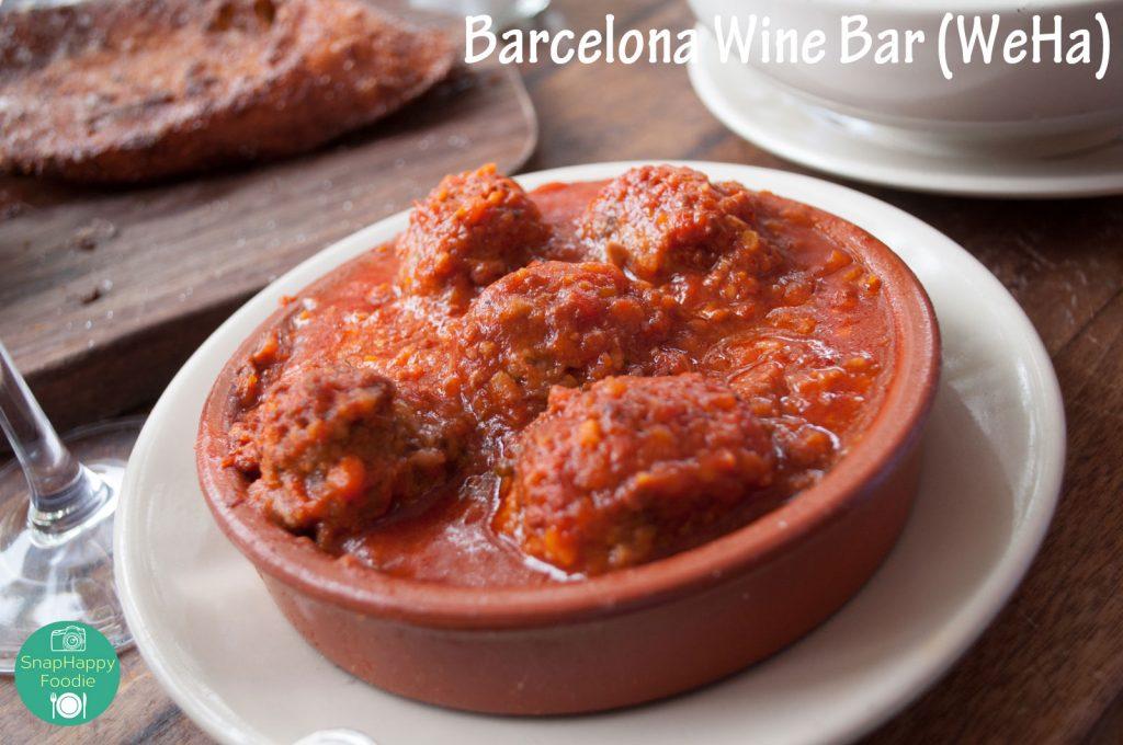 Albondigas - Spiced Meatballs in Ham-Tomato Sauce