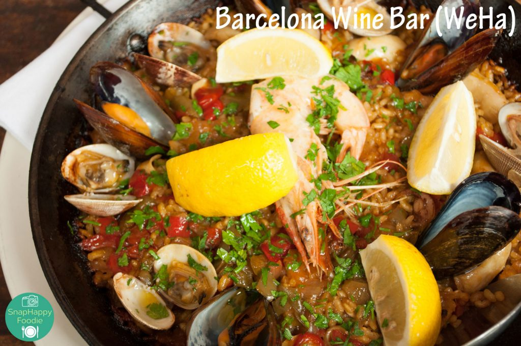 Paella Mariscos with Prawns, Clams, Mussels and Squid
