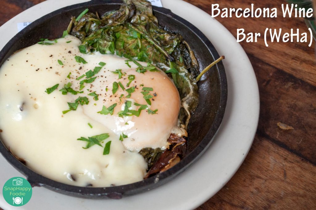 Huevos a la Flamenca with Spinach, Manchego and Baked Egg