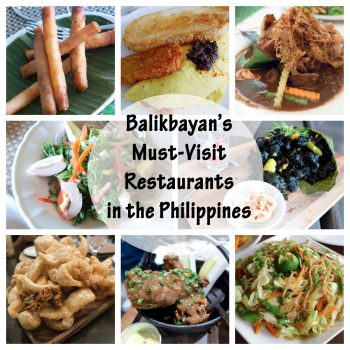 Balikbayan's Must-Visit Restaurants in the Philippines