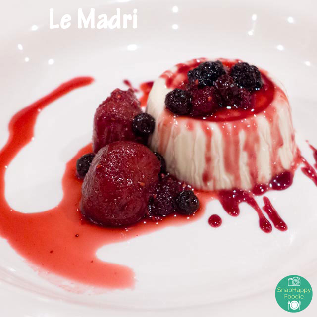 Panna cotta from Le Madri, Bethel CT