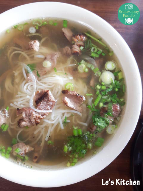Grilled Beef Pho from Le's Kitchen