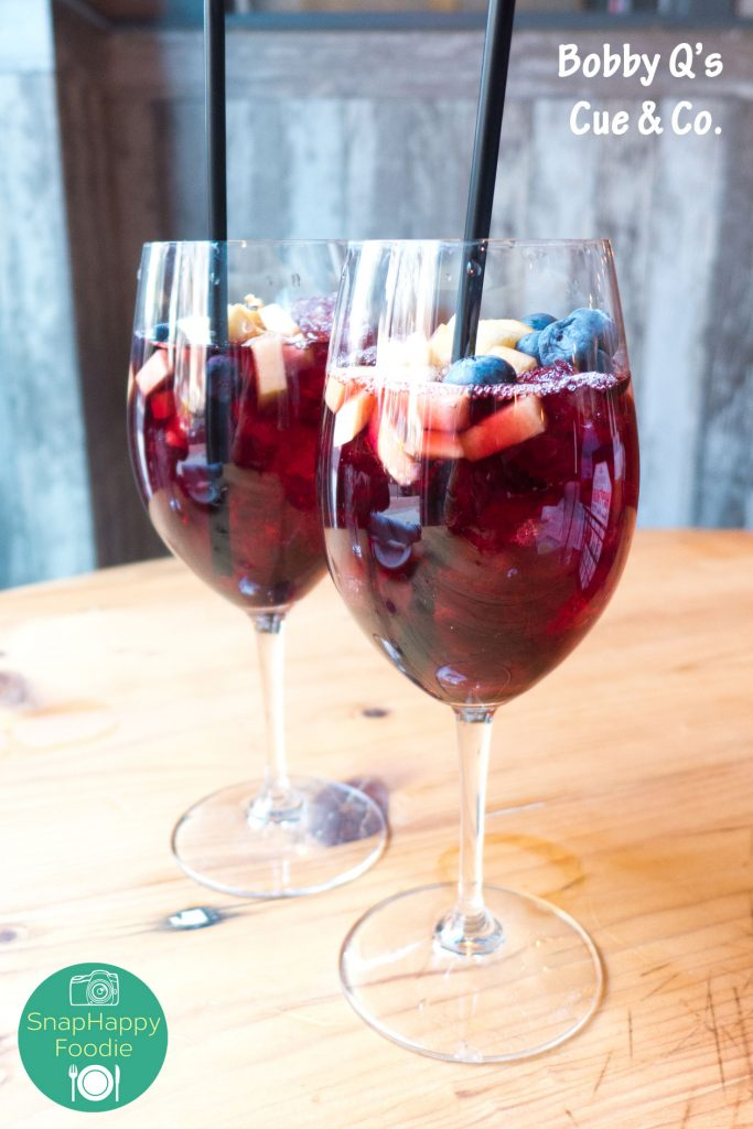 Red, White and Blue Sangria from Bobby Q's Cue & Co. South Norwalk, CT