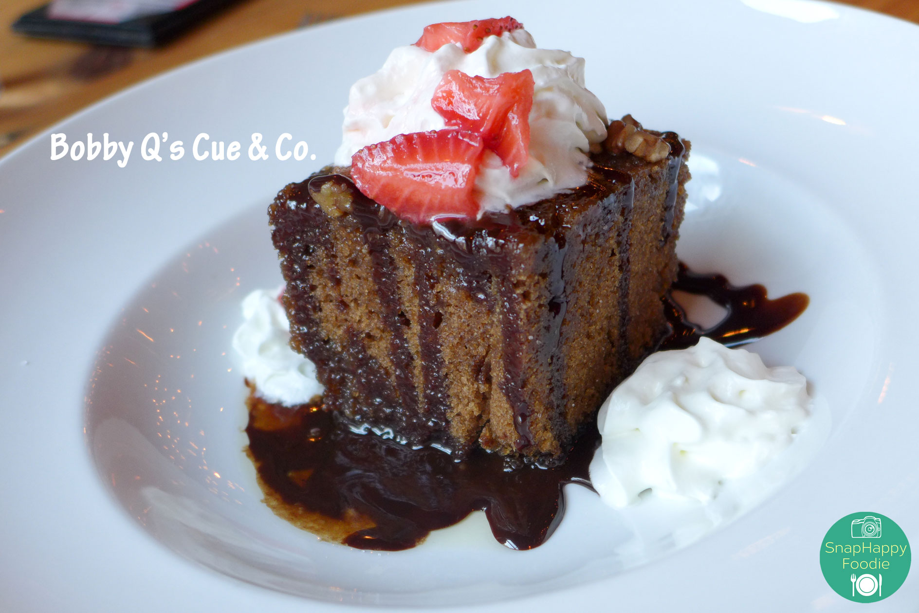 Southern Chocolate Cola Cake from Bobby Q's Cue & Co. South Norwalk, CT