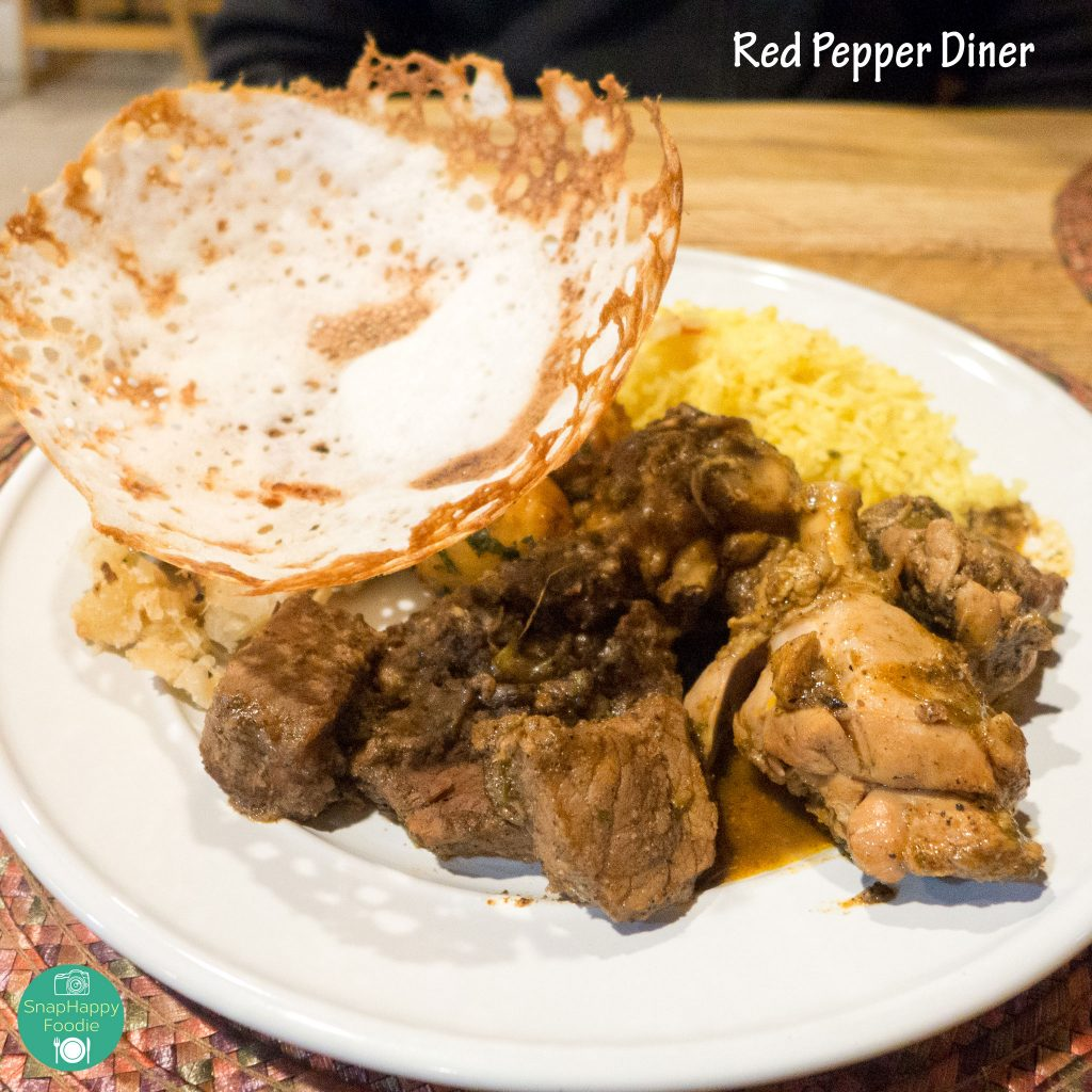 Buffet food with Hopper from Red Pepper Diner, Wappingers Falls NY