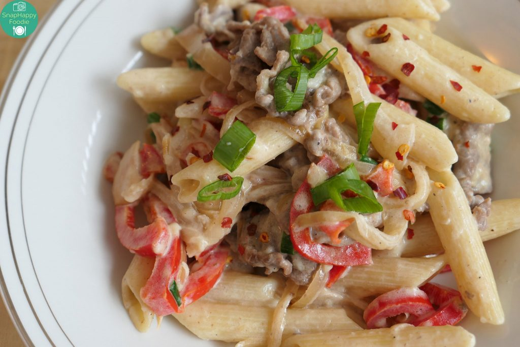 Home Chef Creamy Parmesan Steak Penne