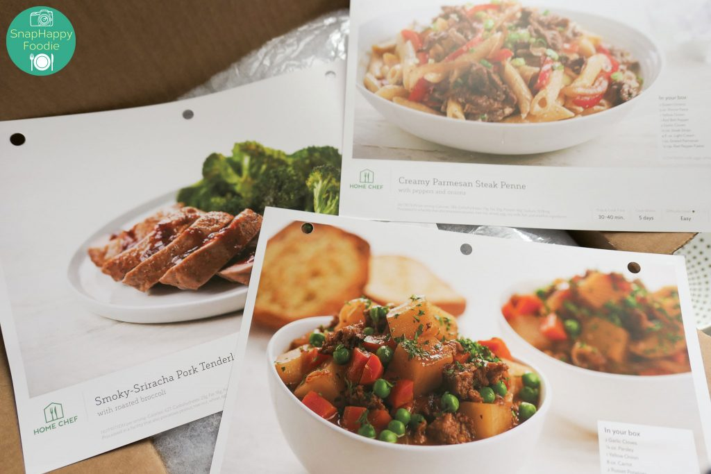 Home Chef Recipe Cards