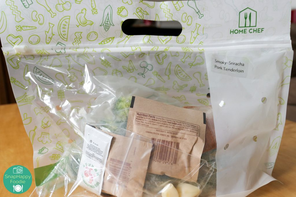 Home Chef Packaged Ingredients