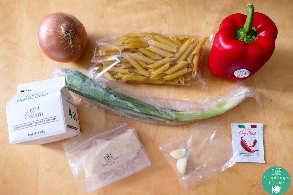 Ingredients for Creamy Parmesan Steak Penne